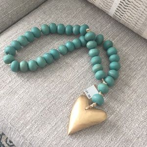 NWT Mud Pie Wooden Bead ♥️ Home Necklace